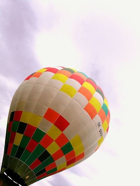 Hot Air Balloon Multi Colored Transportation Adventure Outdoors Fly Me To The Moon Flying Mosaic