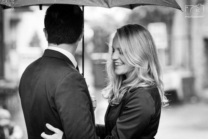 Romance in the Rain , Lovers Engagement