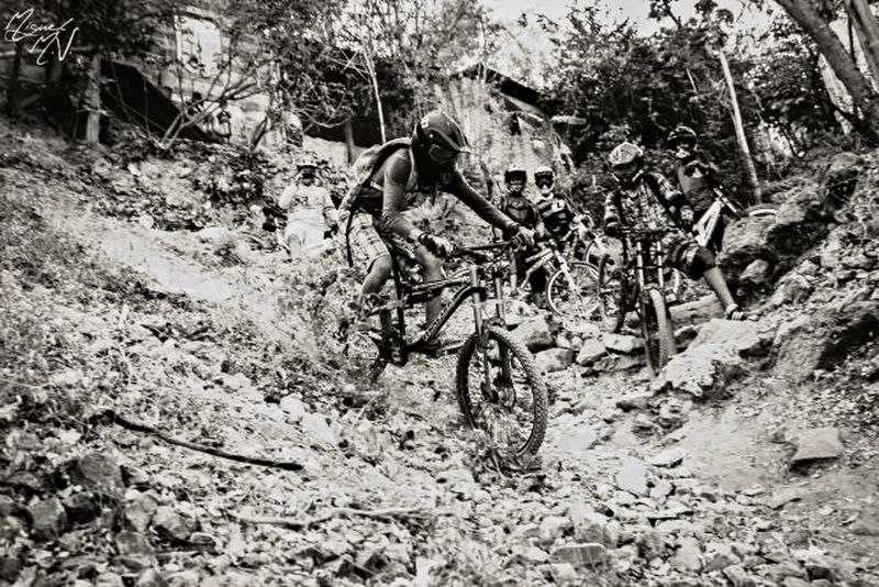 MTB Downhill Bicycle Blackandwhite Sport