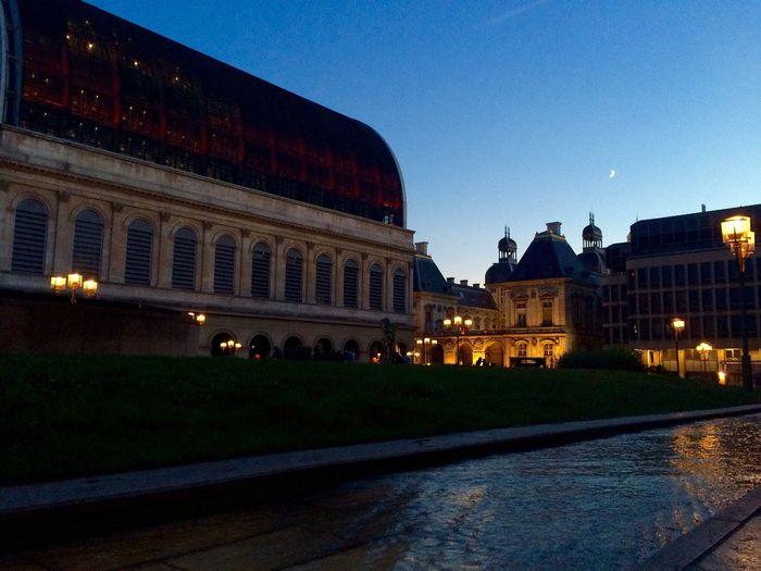 IPhoneography Followme Streetphotography Moon Taking Photos Enjoying Life Operahouse Lyon Lyon France Lyonnais