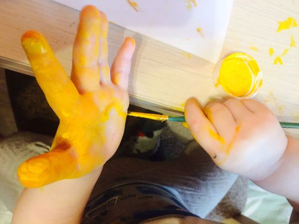 Human Hand Lifestyles Children Drawing Child First Eyeem Photo