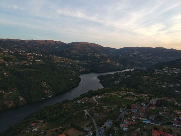 Sunset at Douro - Paços de Gaiolo, Portugal 2017 DJI X Eyeem Dronephotography Beauty In Nature Scenics Sky Nature Tranquil Scene Water Tranquility Outdoors No People River Mountain Landscape Day