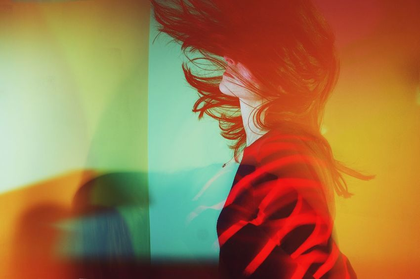 Classify this, AI. Light spills, hard shadows and motion blur The Week On EyeEm AI Now! No People Close-up Indoors  Studio Shot Multi Colored Red Movement Hair Portrait Self Self Portrait Motion Shutter Drag EyeEm Ready   EyeEm Ready   The Creative - 2018 EyeEm Awards The Creative - 2018 EyeEm Awards