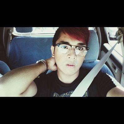 Nerdy Bitch. Asian  Asiangay Sogay Ppss purplehair saturday summer saturdate instadaiky igers igersph selfie