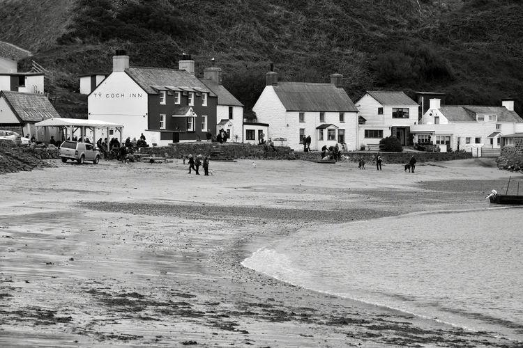 Beach Cottages North Wales Porthdinllaen Beach Sand Sandy Beach Sea