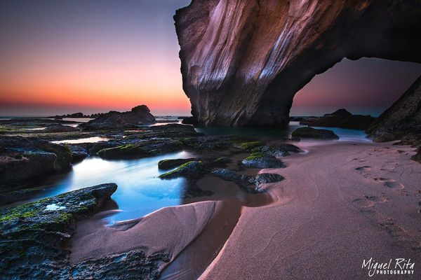 Praia Beach Rock Portugal SantaRita Afterlight Long Exposure