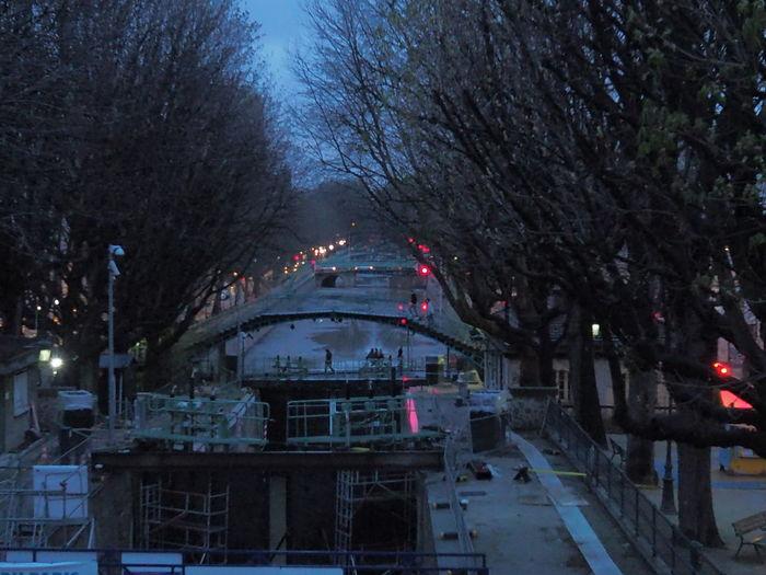 Canal St. Martin Paris Blue Hour Rain