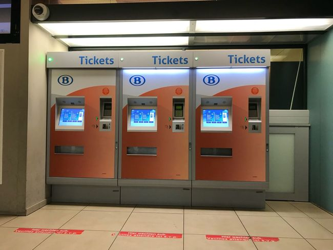 Station Train Ticket Machines Text Communication Sign Safety No People Script Non-western Script Security Architecture Indoors  Wall - Building Feature Red Number Protection Technology Door
