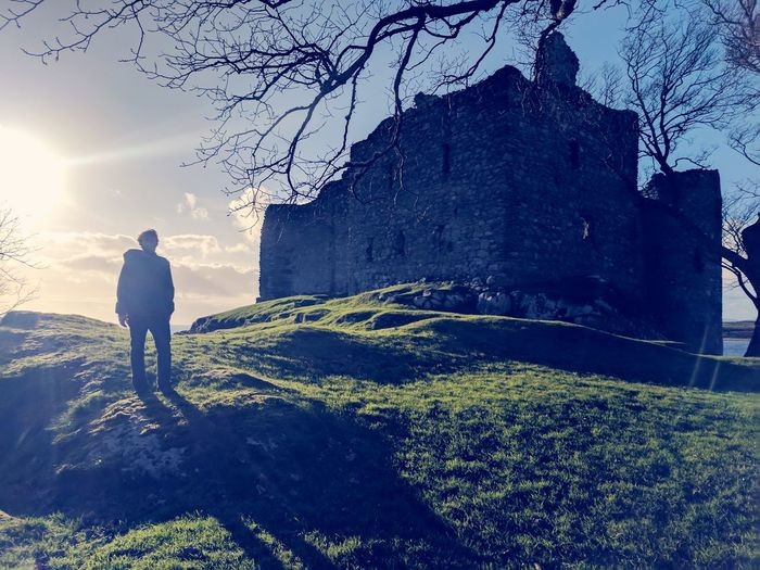 Adult One Person Adults Only People One Man Only Only Men Full Length Men Outdoors Day Sky EyeEm Best Shots EyeEm Selects Grass Landscape Castle Ruins Scotland