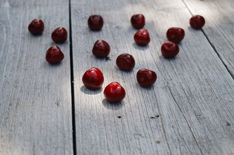 Cherry Vegetarian Food Close-up Day Food Food And Drink Freshness Fruit Full Frame Healthy Eating High Angle View Indoors  Large Group Of Objects No People Nut Plank Red Shadow Still Life Summer Table Textured  Vegetable Wood - Material Wood Grain The Still Life Photographer - 2018 EyeEm Awards