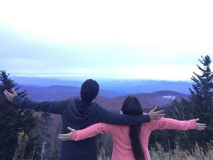 Carefree Copy Space Countryside Couple Enjoyment Escapism Fog Friendship Getting Away From It All Hill Horizon Over Land Landscape Love Mountain Mountain Range Nature Non-urban Scene Outdoors Physical Geography Remote Solitude Together Togetherness Tranquil Scene Tranquility