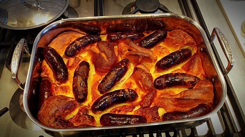 Toad in the hole Toad In The Hole Yorkshire Pudding Sausage
