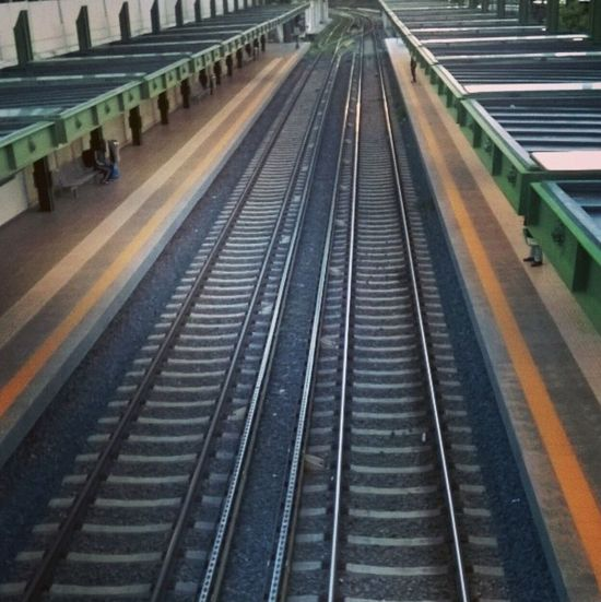 Thisio Train Tracks Railroad Track Transportation No People The Way Forward Rail Transportation Outdoors Day Architecture Stairs Illuminated