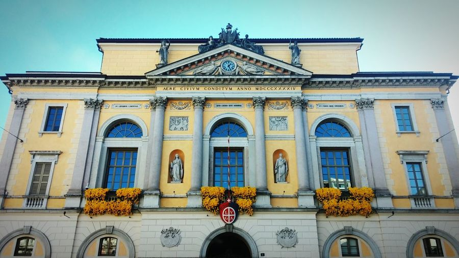 Low Angle View Of Town Hall