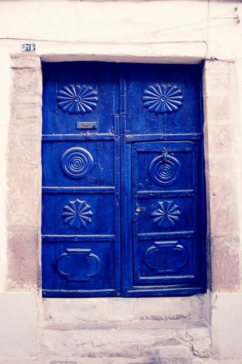 Door Closed Blue No People Ornaments old Beautiful Woodwork Art Is Everywhere