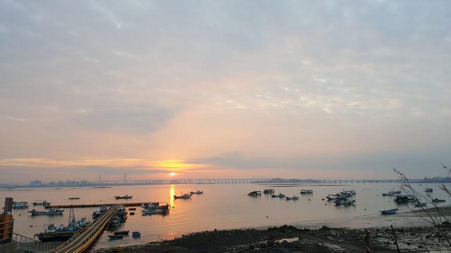 Sunrise Happynewyear Water Nautical Vessel Sea Sunset Beach City Multi Colored Beauty Sunlight Sun