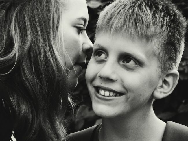 Whispering things Mommy should not hear 😋 Kids Sibling Love EyeEm Best Shots - People + Portrait Black And White Monochrome Whispering Capture The Moment RePicture Masculinity Love Without Boundaries Picturing Individuality Women Who Inspire You Everyday Emotion Monochrome Photography