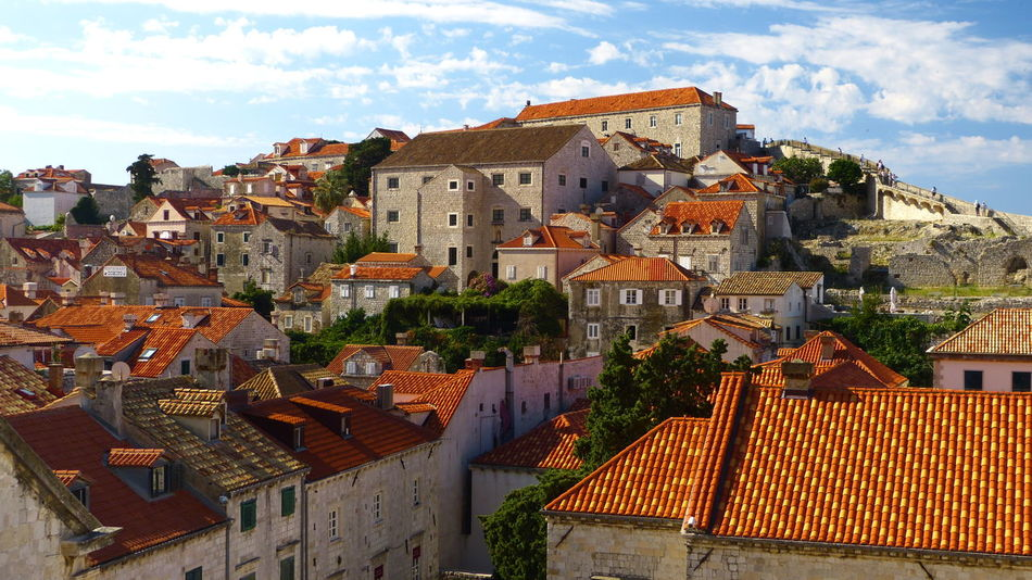 Dubrovnik, Old town Architecture Building Exterior Built Structure City Dubrovnik, Croatia Outdoors Red Tile Roofs Roof Town