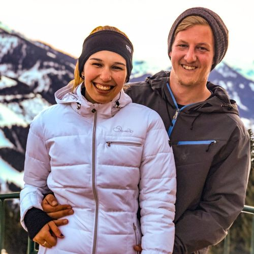 Snow portraits continued Austria Salzburg Hinterglemm Saalbach Portrait IPhone X ShotOnIphone Shot On IPhone Mobilephotography IPhoneography IPhone Happiness Two People Couple - Relationship Smiling Lifestyles Heterosexual Couple Togetherness Young Adult Bonding Standing Real People Leisure Activity Love Front View