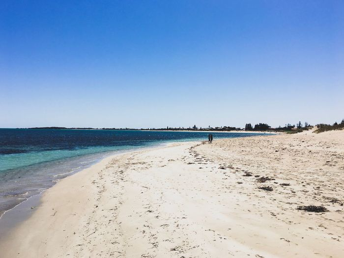 Shoalwater Bay, Rockingham, Western Australia. White Sand Beauty In Nature Horizon Over Water Tranquility Sky Sunlight Outdoors Day Scenics Tranquil Scene Water Nature Blue Copy Space Clear Sky Sea Sand Beach October 2016 Late Spring Early Summer Western Australia Bright Sunny Rockingham Shoalwater Bay