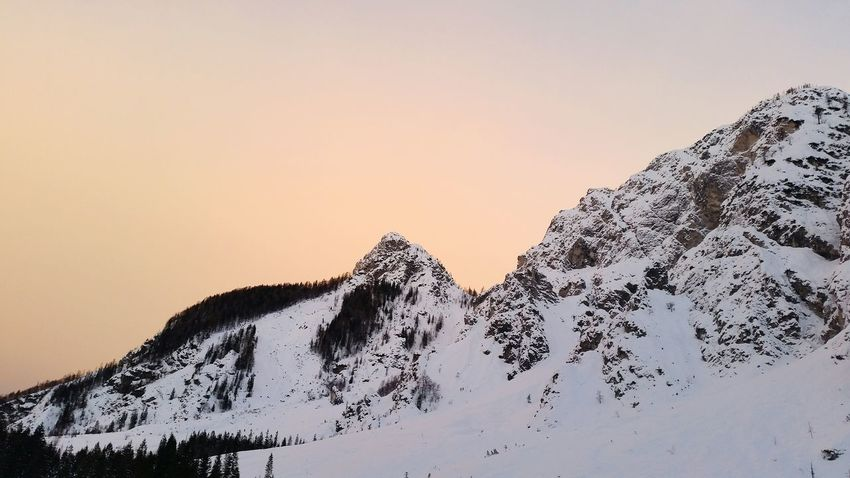 EyeEm Selects Mountain Snow Nature Winter No People Landscape Cold Temperature Beauty In Nature Tranquility Sunset Outdoors Scenics Silhouette Snowcapped Mountain Mountain Range Day Sky Shades Of Winter
