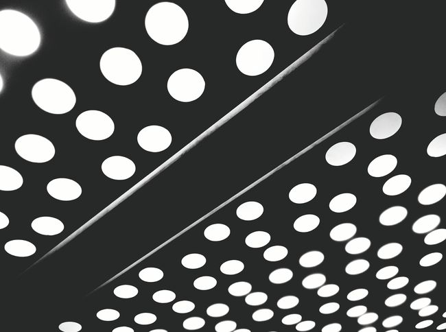 Random Ceiling Light  Pattern Blackandwhite Monochrome In The Elevator