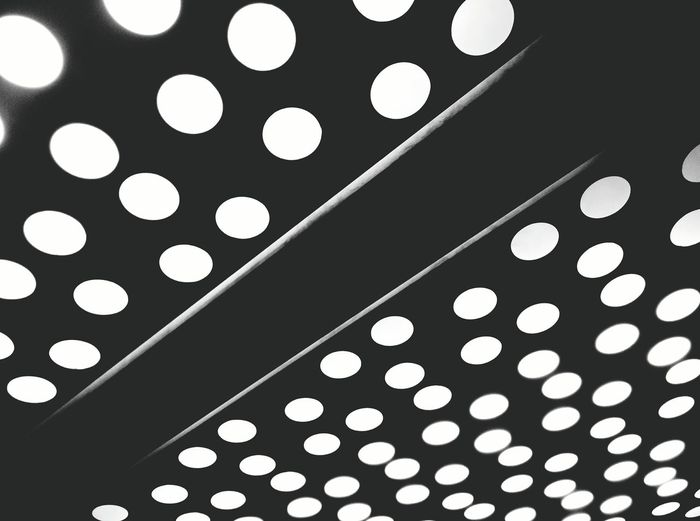 Random Ceiling Light  Pattern Blackandwhite Monochrome In The Elevator