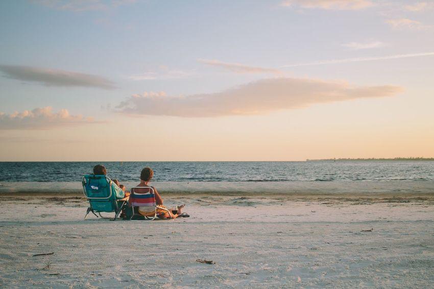 Beach Beach Photography Florida Retirement Fort Myers Couple Joy Relax Beach Time