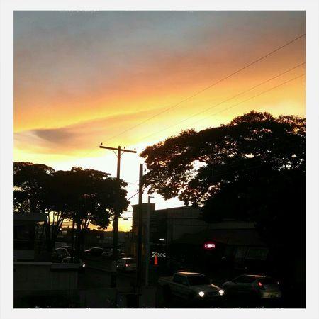 Sunset Sillhuette Shadow Sky