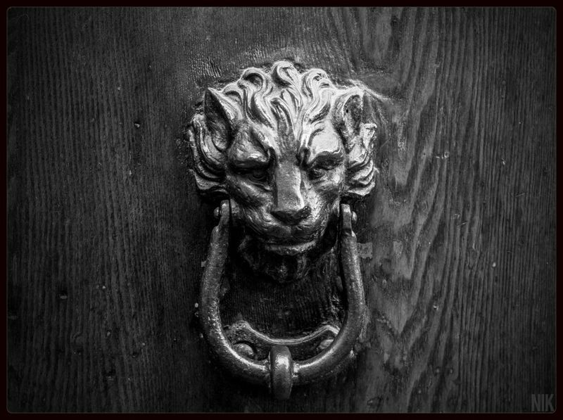 """Lion's door"" Streetphotography Streetphoto_bw Architecture Italy"