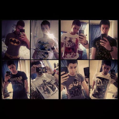 You can never have too much of me ;) haha got all the pics of me in some of my Batman gear :) my onesie and 7 t-shirts Batman Darkknight Batmanfamily FamilyOfBats Geek GeekandProud Gamer Selfie Seriousface BatGeek BatFan Twoface Bane Batmanvillains