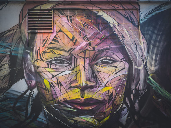 Multi Colored Art And Craft Close-up Built Structure Colours And Patterns EyeEmBestPics EyeEm Gallery EyeEm Best Shots Eyeemphotography Graphic Fine Art Photography Graffiti Street Art Streetphotography Art Woman Portrait Faces Of EyeEm Painting Mysterious Beautiful Millennial Pink