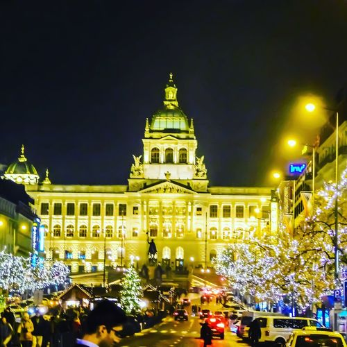 Politics And Government City Cityscape Crowd Architecture Building Exterior Built Structure Christmas Market Christmas Lights Christmas Historic Town Square