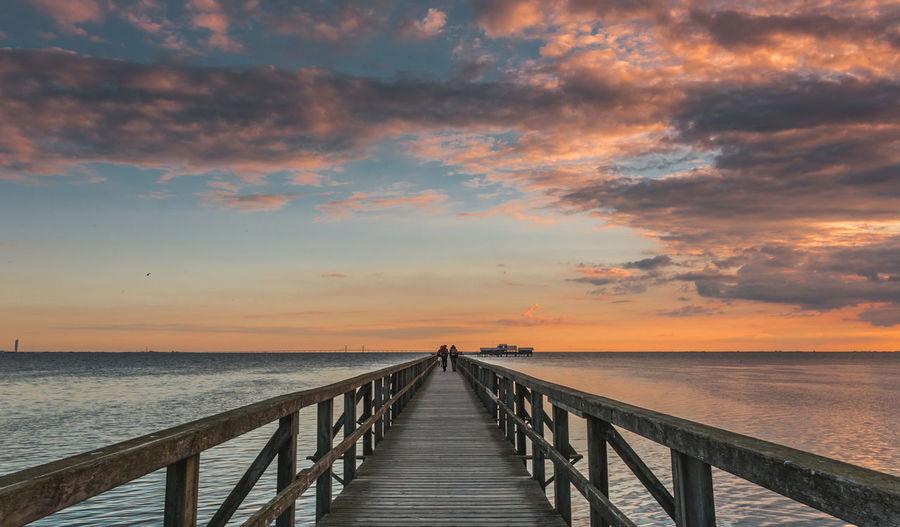 Pier At Idyllic Beach