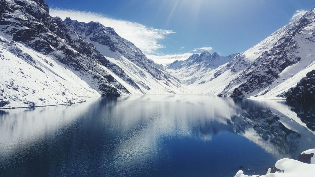 EyeEm Selects Mountain Snow Scenics Nature Mountain Range Lake Water Beauty In Nature Outdoors No People Day Sky Pinaceae Winter Travel Destinations Landscape Cold Temperature Tree Astronomy