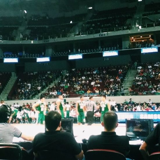 Watched the DLSU vs UE basketball game earlier! ? Animo