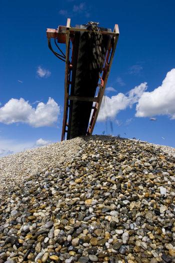 Gravel extraction in botovo, croatia
