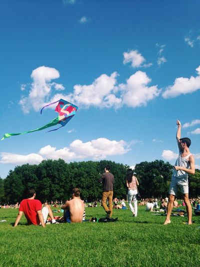 The guys next to us were flying a Disney ariel kite in Central Park. Kite Kite Flying Flying A Kite Let's Go Fly A Kite The Best Of New York