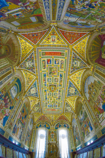 piccolomini library into the siena cathedral Arch Architectural Feature Architecture Art Built Structure Capital Cities  Ceiling Day Design Full Frame Interior Low Angle View Multi Colored No People Ornate Piccolomini Skylight Stained Glass Tourism Travel Destinations