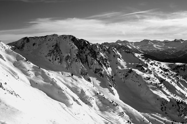 Mountain Mountain Range Landscape Snow Outdoors Scenics Nature Snowcapped Mountain Day Shadow Travel Destinations Vacations Sky No People Beauty In Nature Winter Wintertime Snowboarding Valley Val D'Aran White Freestyle Freeride Nature first eyeem photo The Great Outdoors - 2017 EyeEm Awards Black And White Friday
