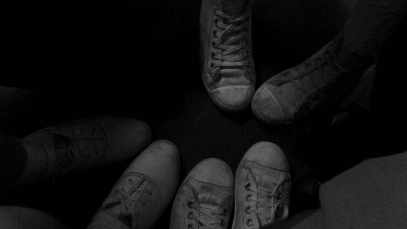 Colegio Zapatos Sucios Zapatos Blancoynegro