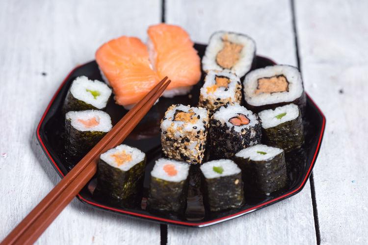 sushi Japan Culture Sushi Sashimi  City Chopsticks Ginger Seafood Home Showcase Interior Appetizer Plate Tradition Sesame Sesame Seed Savory Food