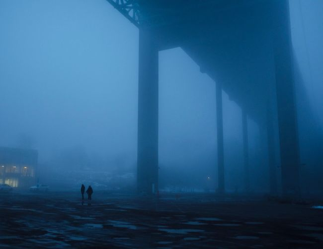 Seven seals 35mm Fujifilm_xseries Fujifilm City Street Street Photography Streetphotography Cinematography Mist Misty Morning Moody Apocalypse Fog Winter Silhouette People Water Outdoors Stories From The City Adult One Person Nature Adults Only Architecture Day The Street Photographer - 2018 EyeEm Awards HUAWEI Photo Award: After Dark