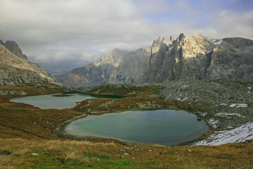 Lake Mountain Water No People Outdoors Dolomites, Italy Mountain Range Beauty In Nature Mountain Lake