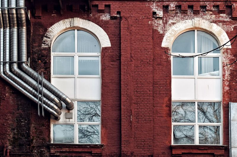 Old Factory Architecture Built Structure Window Building Exterior Arch Building No People Wall Wall - Building Feature Old Brick Wall Closed Glass - Material Brick History