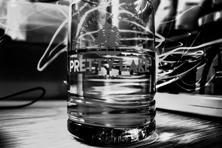 Long exposure behind a bottle B&w Black And White Close-up Day Focus On Foreground Indoors  No People Water