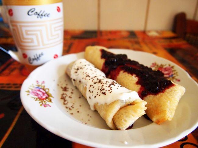 The EyeEm Breakfast Club Pan Cake Strawberry Jam Morning Coffe