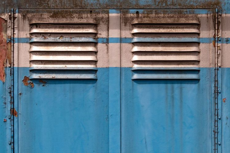 Copy Space Door Entrance Blue Full Frame Closed Architecture Built Structure No People Safety Day Backgrounds Old Metal Protection Pattern Security Building Exterior Close-up Outdoors Peeling Off Shutter Locked Lock Corrugated Iron Closed Door Entryway Entry Gate Corrugated My Best Photo