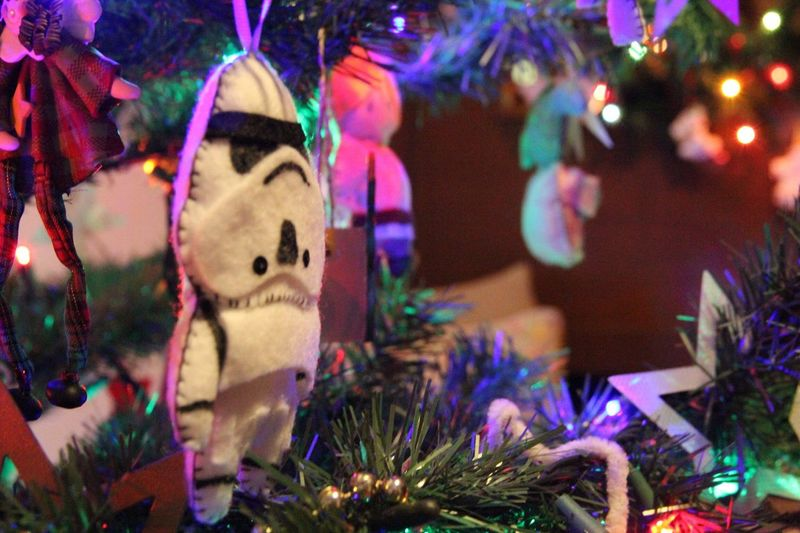 The Culture Of The Holidays Selective Focus Close-up Art And Craft Christmas Decoration Illuminated Decoration At Home StarWars Xmas Decoration Mexico City Night Religious Celebration Focus On Foreground Celebration Event Creativity Retail Display No People Multi Colored Man Made Object