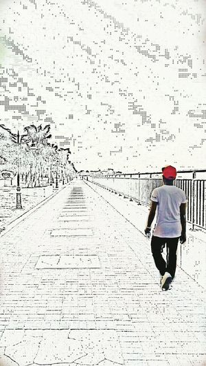 I'm walking away from the troubles in my life🎼🎵🎶 At The Beach Saudiarabia BeFunky Sketch Cartoon Me Enjoying Life Hanging Out Blackandwhite Photography Onecolor City Life
